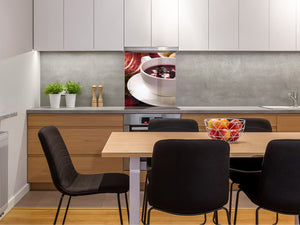 Printed tempered glass backsplash – BS23 European tradicional food Series: Barszcz With Egg 2