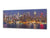 "Wall Art Glass Print Picture 125 x 50 cm (≈ 50"" x 20"") ; City by night 16"