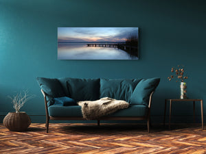 "Glass Print Wall Art – Image on Glass 125 x 50 cm (≈ 50"" x 20"") ; Pier 18"