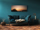 "Glass Print Wall Art – Image on Glass 125 x 50 cm (≈ 50"" x 20"") ; Sunset 15"