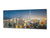 "Wall Picture behind Tempered Glass 125 x 50 cm (≈ 50"" x 20"") – Cities Series 04: Nighttime skyline in Dubai"