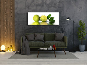 "Glass Print Wall Art – Image on Glass 125 x 50 cm (≈ 50"" x 20"") ; Lime"