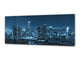 "Wall Art Glass Print Picture 125 x 50 cm (≈ 50"" x 20"") ; City by night 17"