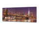 "Wall Art Glass Print Picture 125 x 50 cm (≈ 50"" x 20"") ; City by night 14"