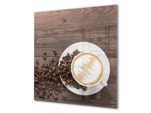Printed Tempered glass wall art BS05A Coffee A Series: Coffee In A Cup 5