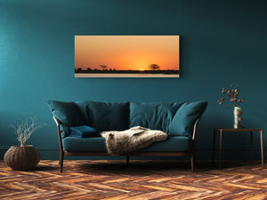 "Modern Glass Picture 125x50 cm (49.21"" x 19.69"") –   Sunset 1"
