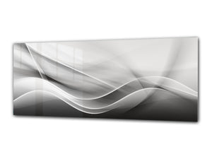 "Modern Glass Picture 125x50 cm (49.21"" x 19.69"") –   Abstract Art. 1"