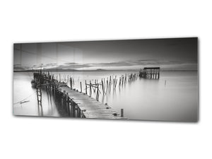 "Modern Glass Picture 125x50 cm (49.21"" x 19.69"") –  Pier 1"