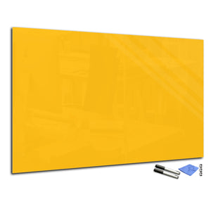 Magnetic Dry-Erase Glass Board Large or Small medium yellow