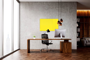 Magnetic Dry-Erase Glass Board Large or Small  mellow yellow