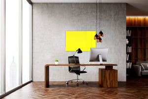 Magnetic Dry-Erase Glass Board Large or Small lemon yellow