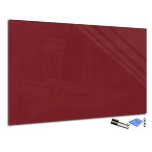 Magnetic Dry-Erase Glass Board Large or Small purple-red