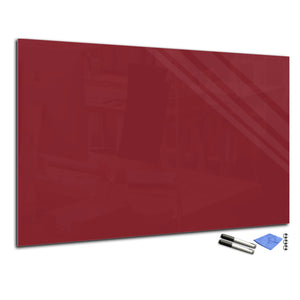 Magnetic Dry-Erase Glass Board Large or Small  burgundy