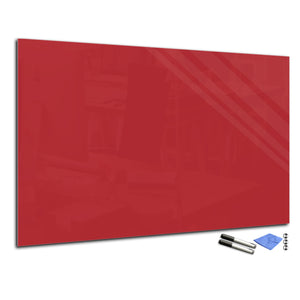 Magnetic Dry-Erase Glass Board Large or Small dark red