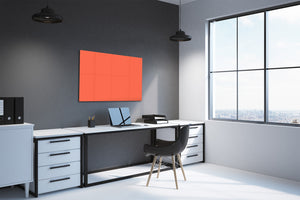 Magnetic Dry-Erase Glass Board Large or Small orange
