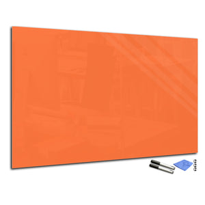 Magnetic Dry-Erase Glass Board Large or Small pastel orange