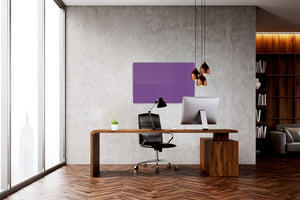 Magnetic Dry-Erase Glass Board Large or Small dark violet