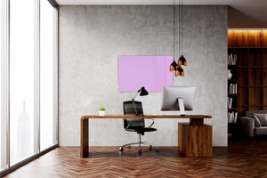 Magnetic Dry-Erase Glass Board Large or Small lilac