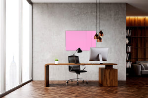 Magnetic Dry-Erase Glass Board Large or Small mellow pink