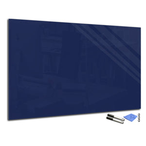 Magnetic Dry-Erase Glass Board Large or Small steel blue
