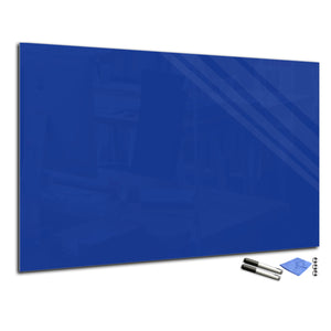 Magnetic Dry-Erase Glass Board Large or Small royal navy blue