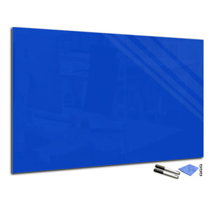 Magnetic Dry-Erase Glass Board Large or Small egyptian blue