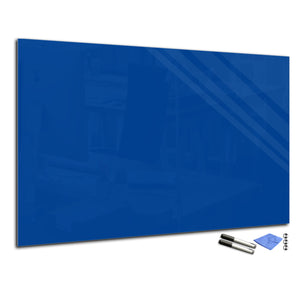 Magnetic Dry-Erase Glass Board Large or Small blue