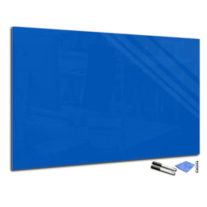 Magnetic Dry-Erase Glass Board Large or Small dark azure