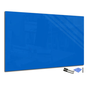 Magnetic Dry-Erase Glass Board Large or Small azure