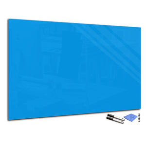 Magnetic Dry-Erase Glass Board Large or Small light blue