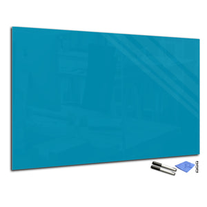 Magnetic Dry-Erase Glass Board Large or Small dark turquoise