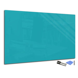 Magnetic Dry-Erase Glass Board Large or Small turquoise