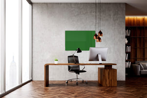 Magnetic Dry-Erase Glass Board Large or Small forest green