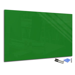 Magnetic Dry-Erase Glass Board Large or Small  green