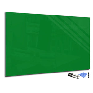 Magnetic Dry-Erase Glass Board Large or Small moss green