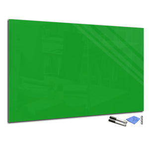 Magnetic Dry-Erase Glass Board Large or Small  bright green