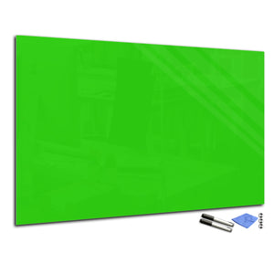 Magnetic Dry-Erase Glass Board Large or Small yellow green