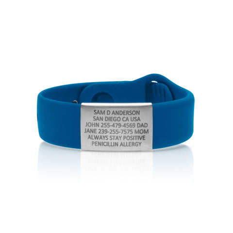 Silicone Wristband ID - Sleek