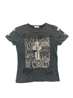 """Blessed"" Destructed Short Sleeve"