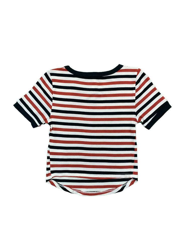 Load image into Gallery viewer, Striped Rib Short Sleeve