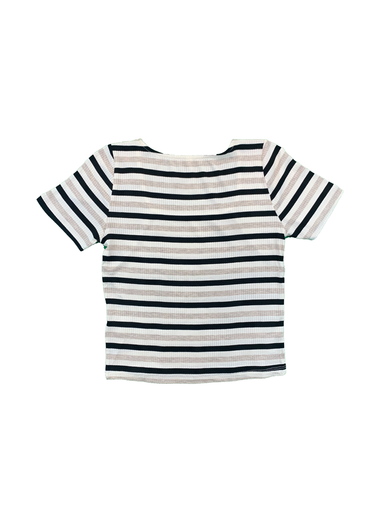 Load image into Gallery viewer, Stripe Square Neck Short Sleeve