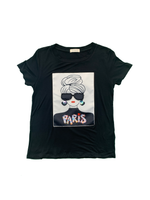 """Paris Girl"" Patch Short Sleeve"