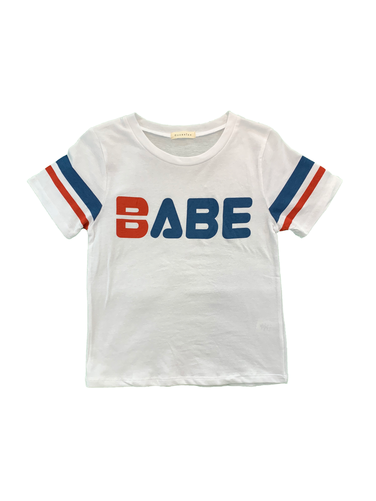 """Babe"" Short Sleeve Crop Top"