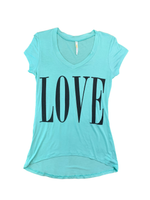 """Love"" High Low Short Sleeve"