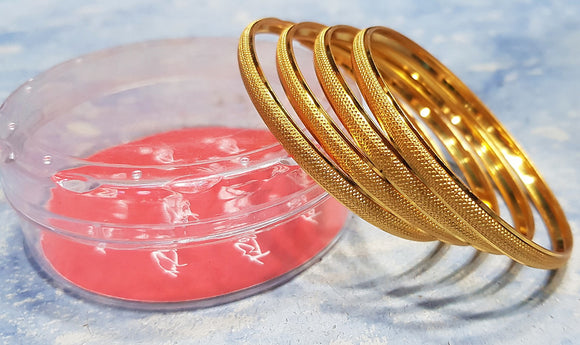 Women's Golden Bangle (4-piece)