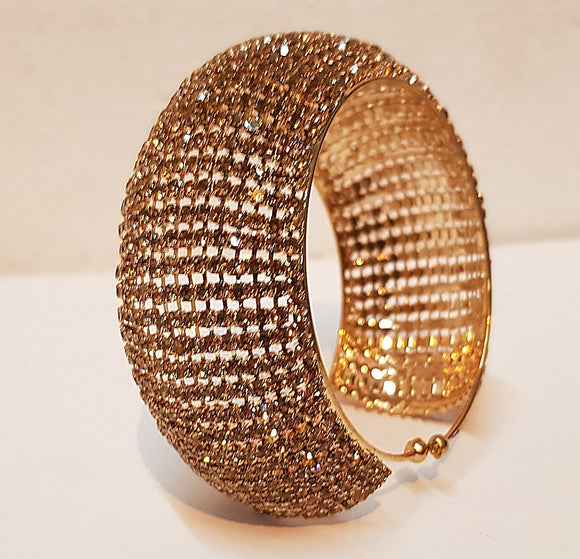 Women's Fully Studded Bracelet (Self-Adjustable)