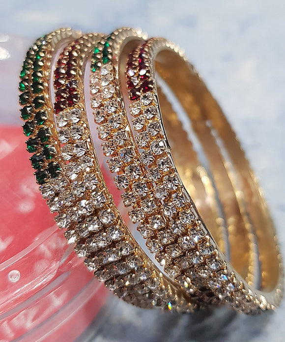 Girl's Studded Bangle (4-piece)