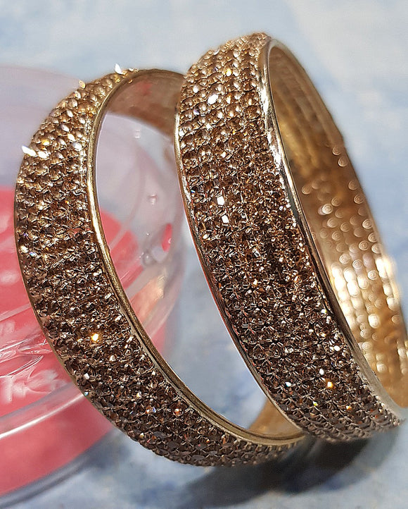 Girl's Golden Bronze Studded Bangle