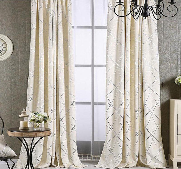 Avi - Blackout Jacquard Curtains - Modernly Decor