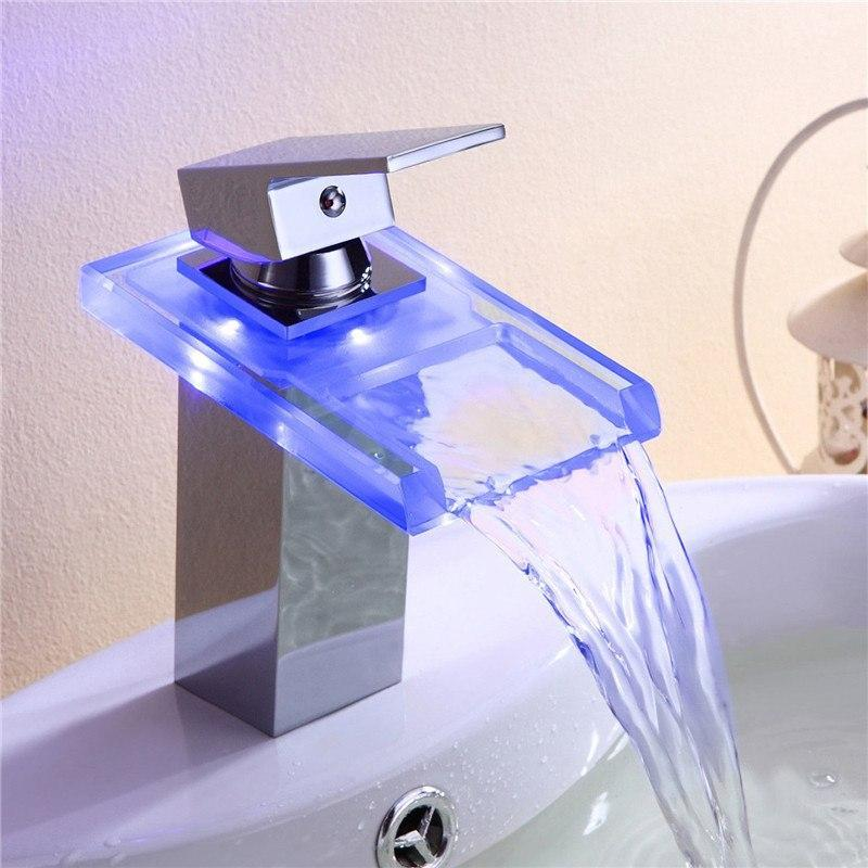 Laz - LED Temperature Color Changing Faucet - Modernly Decor